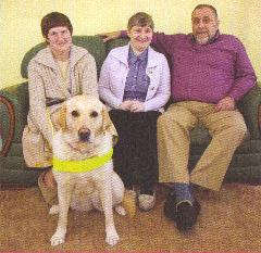 Hall Family plus Pebbles the Guide Dog