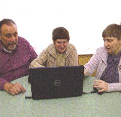 Hall Family with Talking Laptop